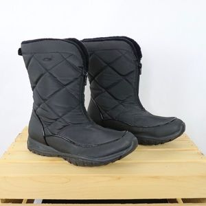 3/$30 Champion black zip front quilted snow boots